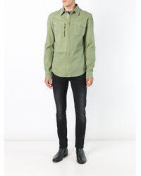 Versus - Blue Zip Pocket Shirt for Men - Lyst