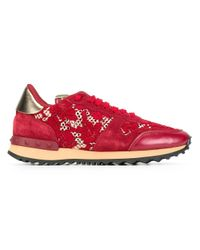 Valentino | Red Garavani 'rockrunner' Sneakers | Lyst