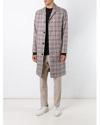 AMI - Multicolor Half-lined Coat for Men - Lyst