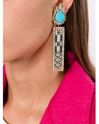 Shourouk - Blue 'bastet' Clip-on Earrings - Lyst