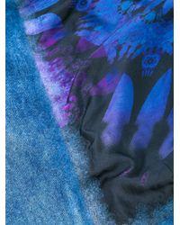 Avant Toi - Blue Raw Edge Scarf - Lyst