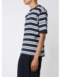 Sacai - Blue Striped T-shirt for Men - Lyst