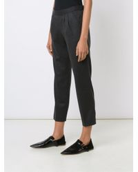 MASSCOB - Gray Cropped Trousers - Lyst