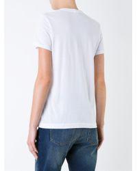 Markus Lupfer - White Lips Print T-shirt - Lyst
