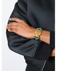 Versace - Blue Medusa Plaque Bracelet - Lyst