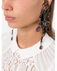 Lanvin Blue Long 'ginger' Line Earrings