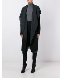 Masnada - Black Asymmetrical Wrap Coat - Lyst