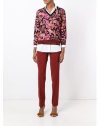 Etro - Red Slim Chino Trousers - Lyst