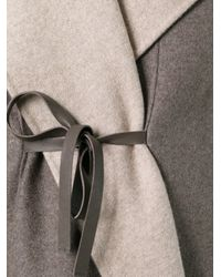 Giorgio Armani - Blue Sleeveless Belted Coat - Lyst