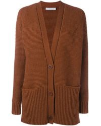 VINCE | Blue Wool Cashmere-blend Waffle Knit Cardigan | Lyst