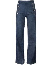 1511a219 Tommy Hilfiger. Women's Blue Tommy X Gigi Hadid Straight Leg High Waisted  Jeans