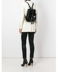Saint Laurent - Black 'festival' Backpack - Lyst