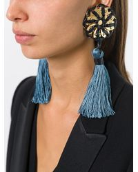DSquared² | Multicolor 'samurai' Single Tassel Earrings | Lyst