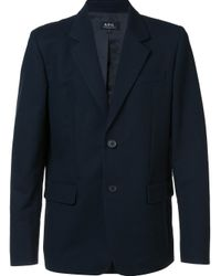 A.P.C. | Blue Single Breasted Blazer for Men | Lyst