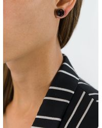 Givenchy - Black Crystal Stud Earrings - Lyst