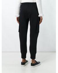 Helmut Lang - Black Cropped Sweatpants - Lyst