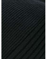 Andrea Ya'aqov | Black Rib Knit Beanie | Lyst