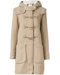 Carven | Blue Toggle Fastening Duffle Coat | Lyst