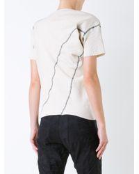 Assin - Black - 'rib Twist' T-shirt - Women - Cotton/spandex/elastane - M - Lyst