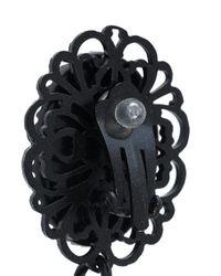 DSquared² | Black Ribbon Draped Earrings | Lyst