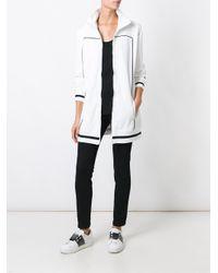 PUMA - White Contrast-Detail Zip-Up Cardi Coat - Lyst
