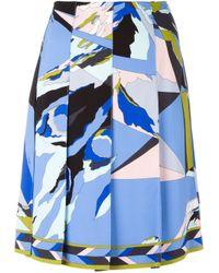 Emilio Pucci | Multicolor Abstract Print Pleated Skirt | Lyst
