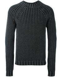 Tod's - Gray Ribbed Knit Jumper for Men - Lyst