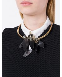 Marni - Natural Petal Choker Necklace - Lyst