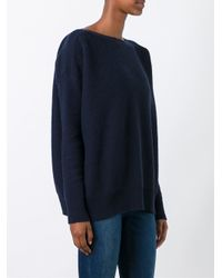 Woolrich - Blue Boat Neck Jumper - Lyst