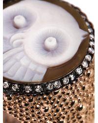 Amedeo - Metallic 'owl' Ring - Lyst