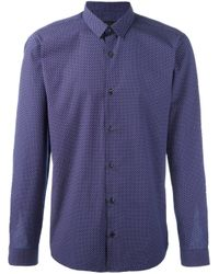 Z Zegna   Blue Dotted Print Shirt for Men   Lyst