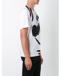 Iceberg - White 'mikey Mouse' T-shirt for Men - Lyst