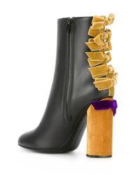 Marco De Vincenzo - Black Bow Appliqué Ankle Boots - Lyst