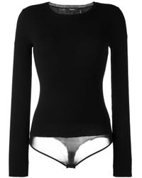 Theory | Black Round Neck Body Pullover | Lyst