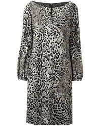 Roberto Cavalli | Multicolor Leopard Print Longsleeved Dress | Lyst