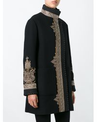 Etro - Black Embroidered Pattern Sports Coat - Lyst