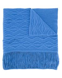 Stella McCartney | Blue Cable Knit Scarf | Lyst