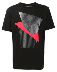 Neil Barrett - Black Geometric Print T-shirt for Men - Lyst