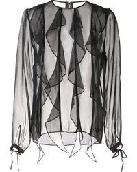 Thomas Wylde   Black Silk 'enlighten' Blouse   Lyst