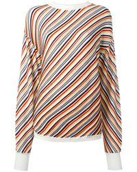 AALTO | Multicolor Diagonal Stripe Jumper | Lyst