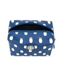 Tory Burch - Blue Penguin Print Make-up Bag - Lyst