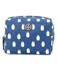 Tory Burch | Blue Penguin Print Make-up Bag | Lyst