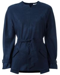 Cacharel | Blue Belted Blouse | Lyst