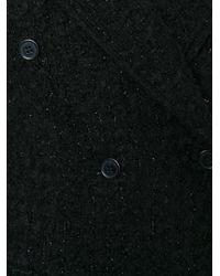Piccione.piccione   Black Long Tweed Coat   Lyst