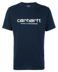 Carhartt | Blue Logo Print T-shirt for Men | Lyst