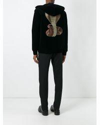 Givenchy - Black Cobra Graphic Velvet Hoodie for Men - Lyst