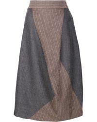 Vivienne Westwood Red Label | Brown Asymmetric Pinstripe Skirt | Lyst