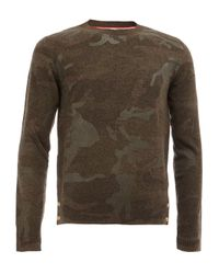 Moncler Gamme Bleu | Gray Camouflage Pattern Pullover for Men | Lyst