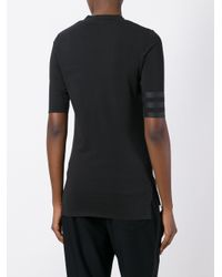 Y-3 - Black Three Quarter Sleeves T-shirt - Lyst