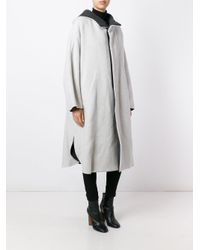 Enfold - White Enföld Welt Pockets Buttoned Coat - Lyst